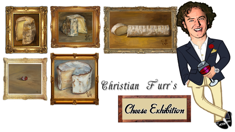 Christian Furr – Cheese Paintings Exhibition
